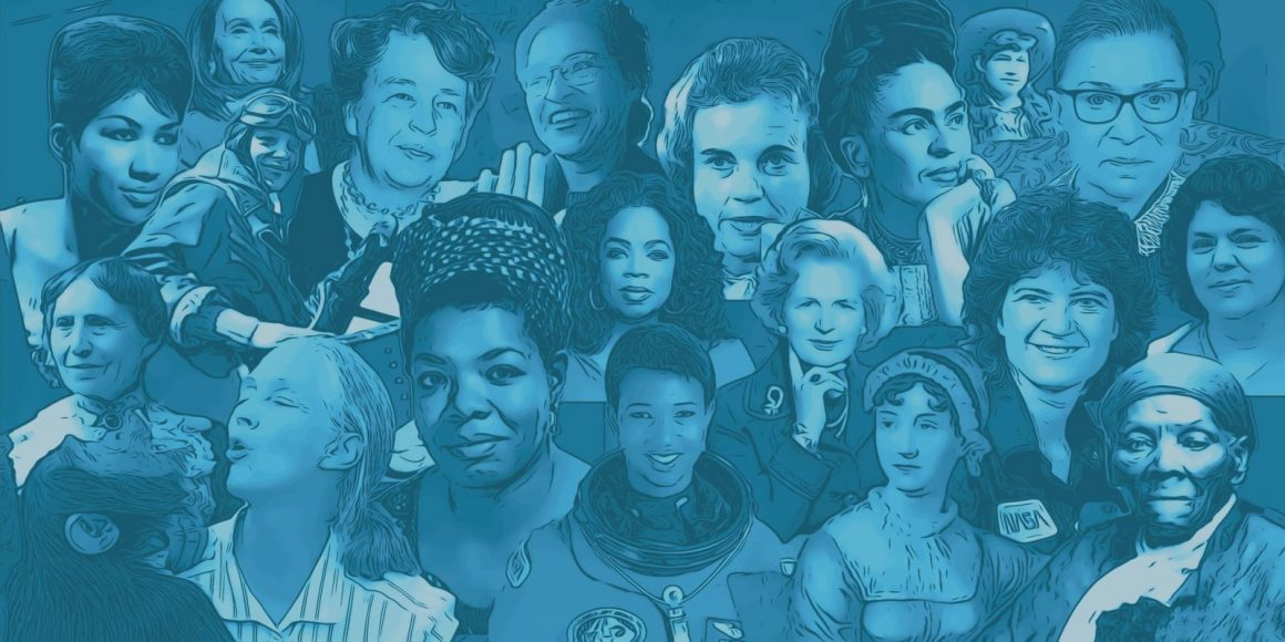 Collage of famous women in history for Women's History Month